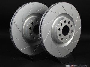 Front Slotted Brake Rotors - Pair (345x30)