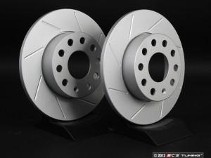 Rear Slotted Brake Rotors - Pair (260x12)