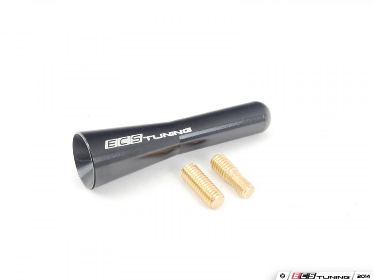 68mm Sharan Style Billet Aluminum Antenna - Black