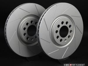 Late Front Slotted Brake Rotors - Pair (312x25)