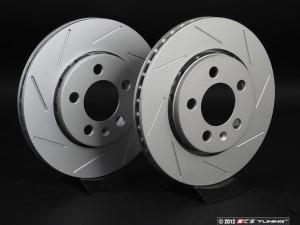 Rear Slotted Brake Rotors - Pair (256x22)